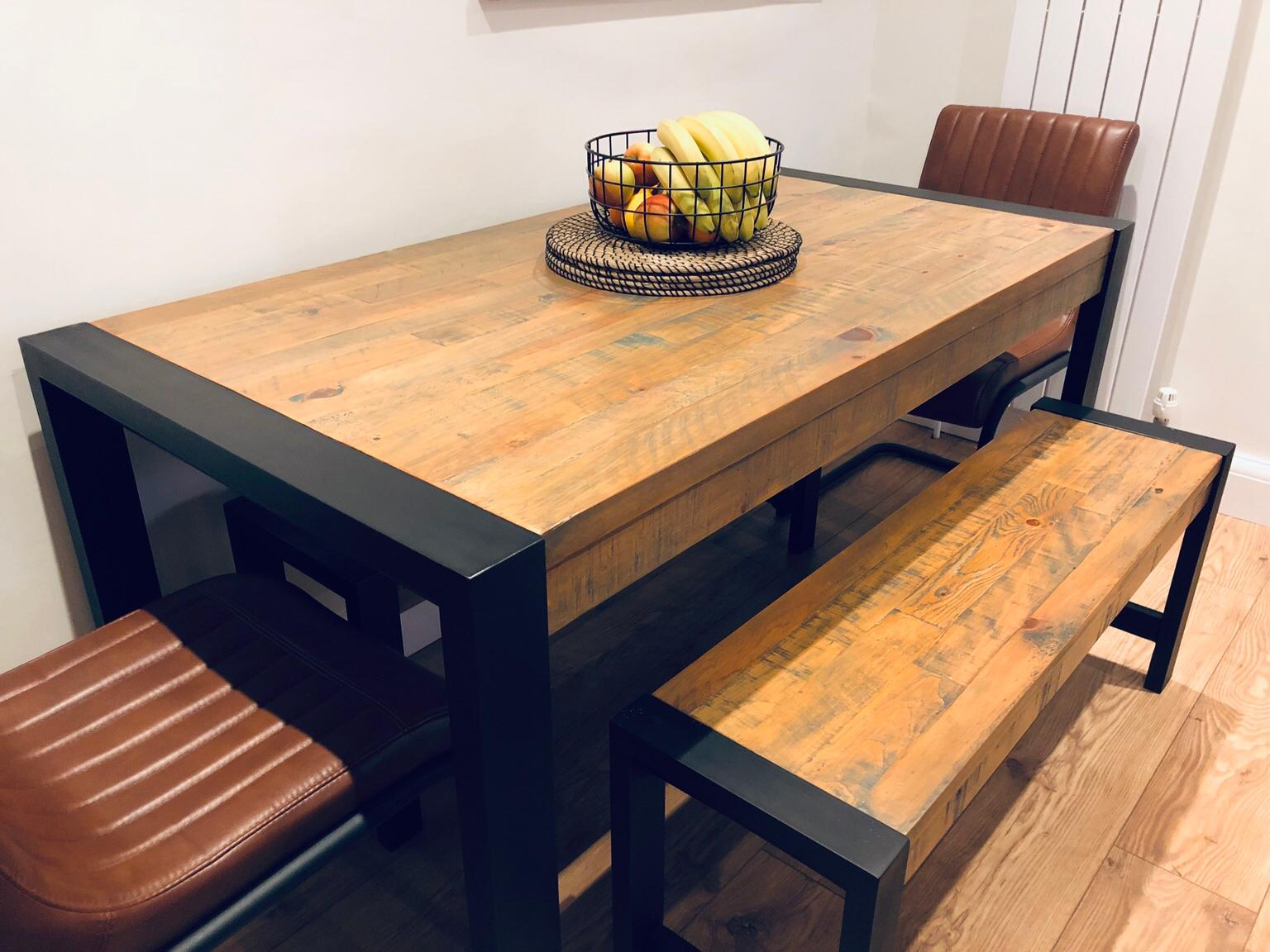 Next Hudson Dining Table And Bench Set, Hudson Dining Room Furniture