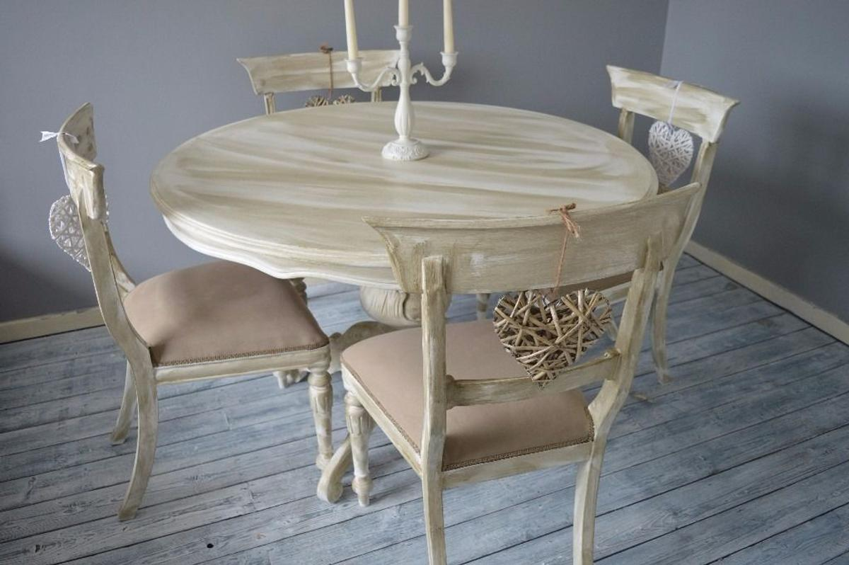 Rustic Round French Dining Table & 9 Chairs in M95 Whitefield für ...