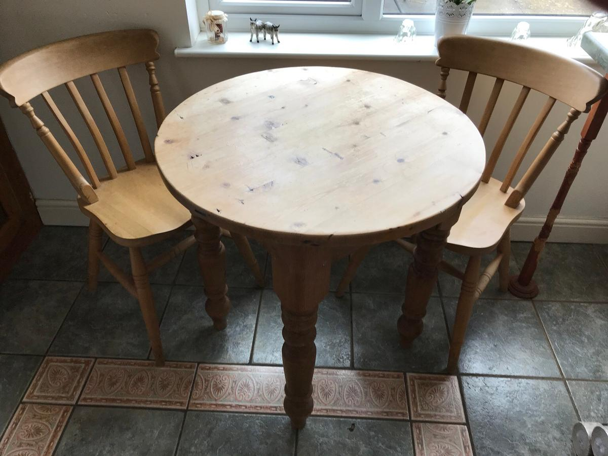Small pine kitchen table and two chairs in Walsall for £9.9 for ...