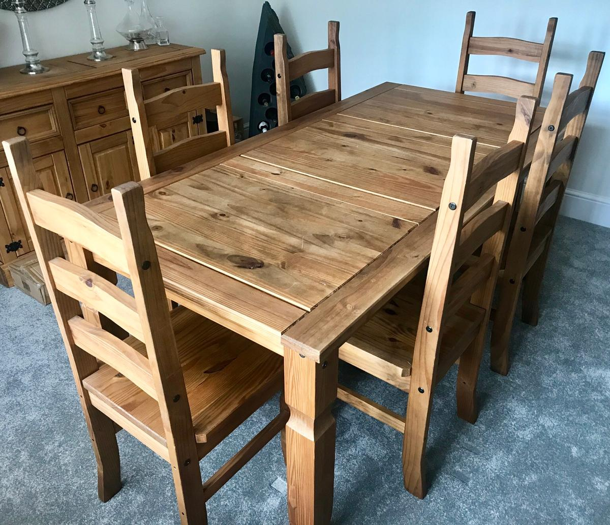 Corona Pine Dining Table & 9 Chairs in WS9 Walsall for £9.9 for ...
