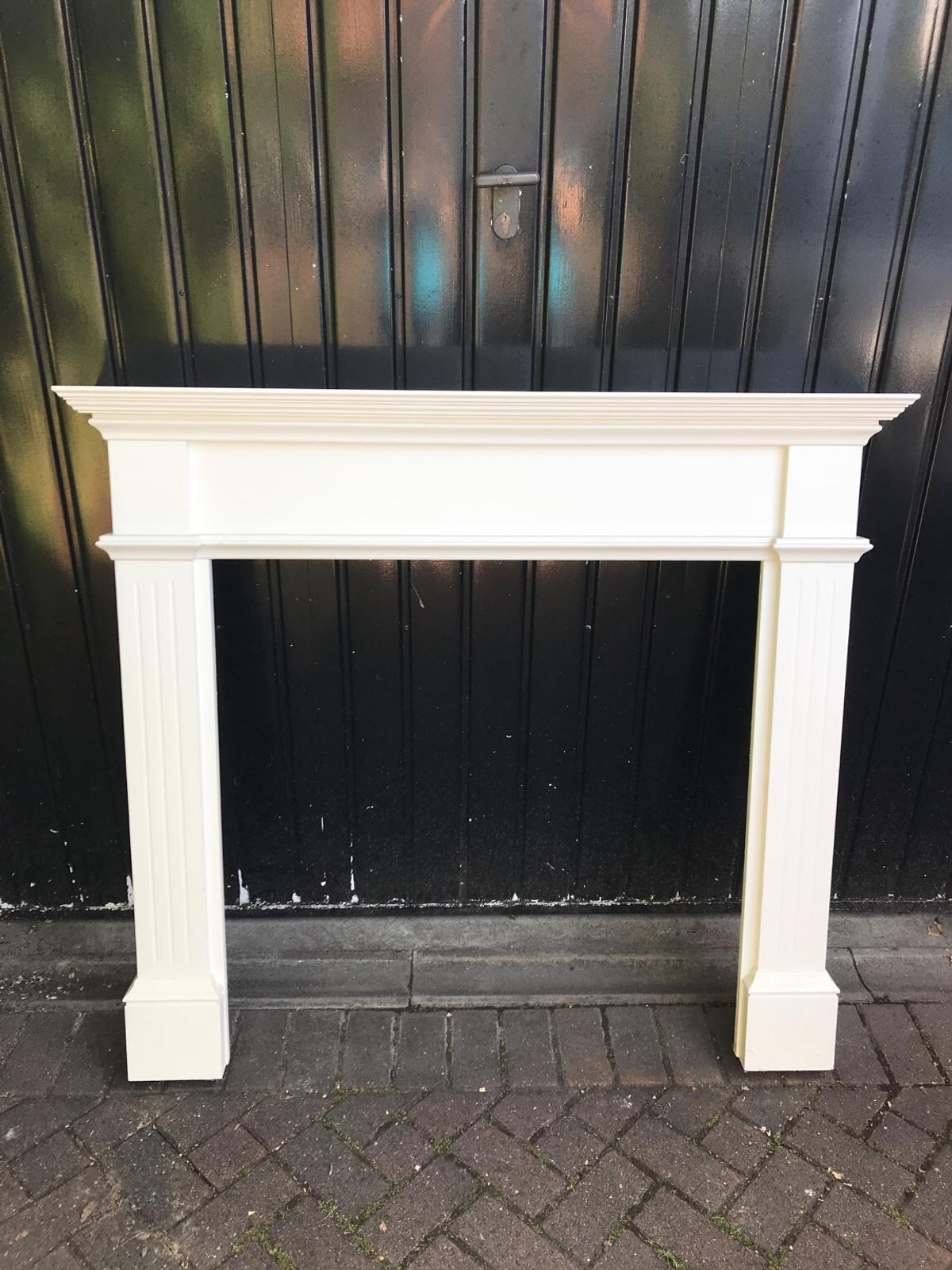 Wooden Fire Surround Painted White In, How To Paint A Wooden Fire Surround