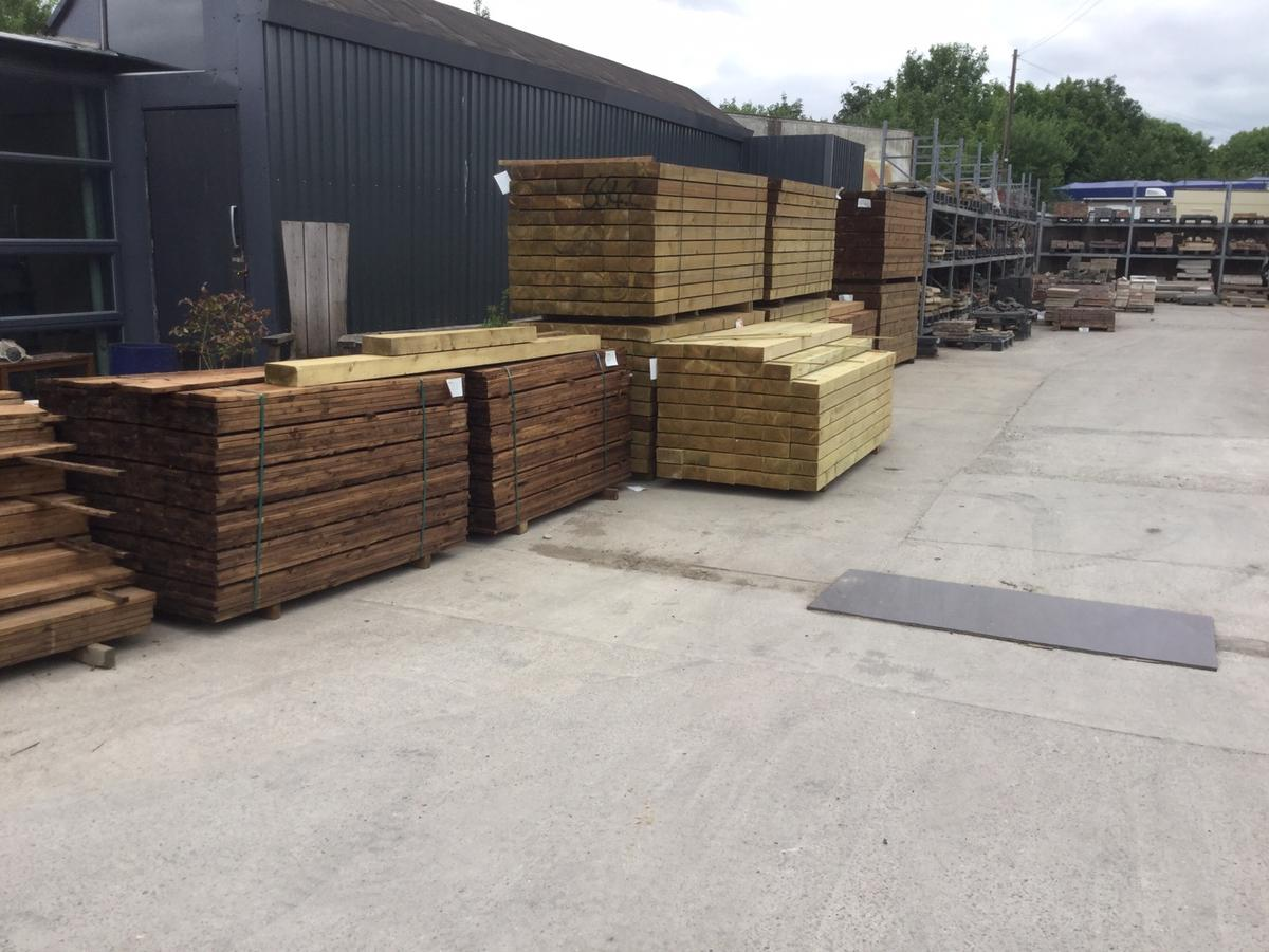 New treated railway sleepers green and brown in SK20 Stockport for ...