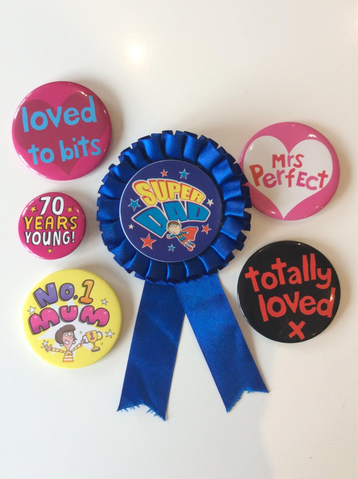 6 Assorted Badges All Good Condition (Collection Or Happy To Post)