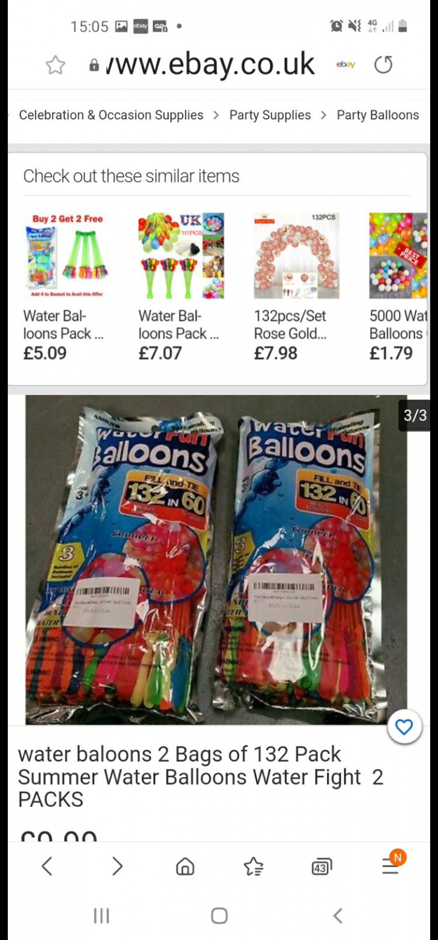 as above fill with water in bunches and let the fun begin £2 per pack collection only l206ld